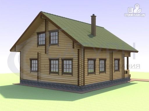 Фото 6: проект деревянный дом с вторым светом и сауной