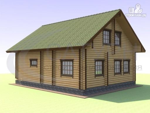Фото 5: проект деревянный дом с вторым светом и сауной