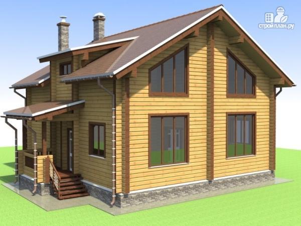 Фото: проект деревянный дом 9х10 с крыльцом