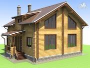 Проект деревянный дом 9х10 с крыльцом