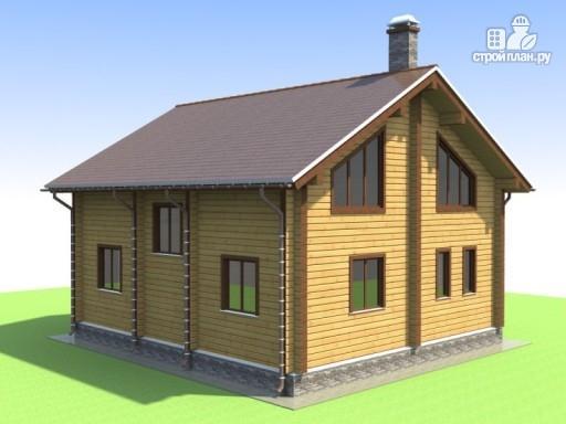 Фото 5: проект деревянный дом 9х10 с крыльцом