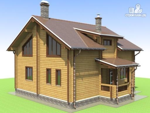 Фото 4: проект деревянный дом 9х10 с крыльцом