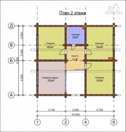 Фото 3: проект деревянный дом 9х10 с крыльцом