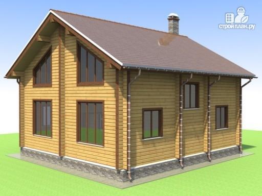 Фото 6: проект деревянный дом 9х10 с крыльцом