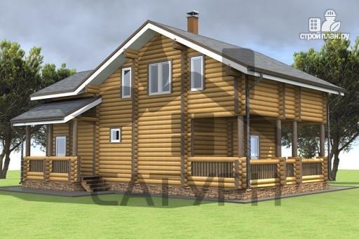 Фото 6: проект дом из дерева в полтора этажа