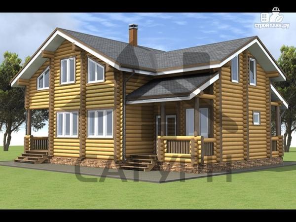 Фото: проект дом из дерева в полтора этажа