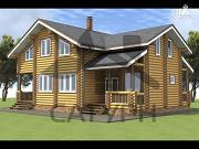 Проект дом из дерева в полтора этажа