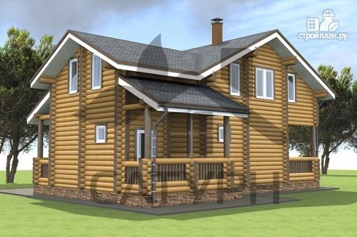 Фото 7: проект дом из дерева в полтора этажа