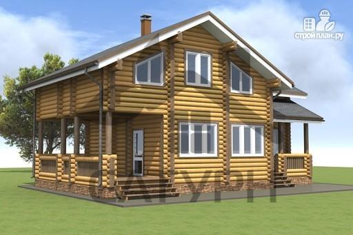 Фото 5: проект дом из дерева в полтора этажа
