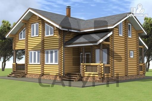 Фото 4: проект дом из дерева в полтора этажа