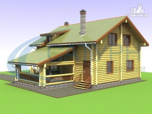 Фото 5: проект дом деревянный с навесом для машины