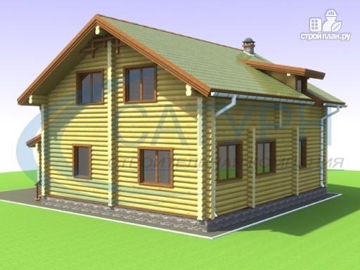 Фото 6: проект дом деревянный с навесом для машины