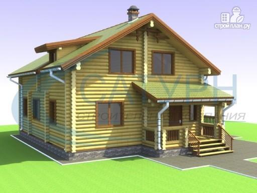 Фото 7: проект дом деревянный с навесом для машины