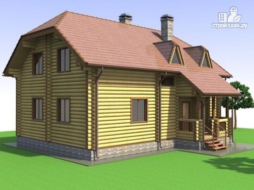 Фото 4: проект деревянный дом с эркером и крыльцом