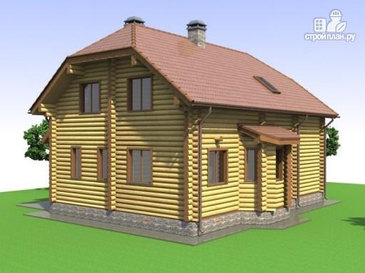 Фото 5: проект деревянный дом с эркером и крыльцом