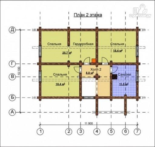 Фото 3: проект деревянный дом с эркером и крыльцом