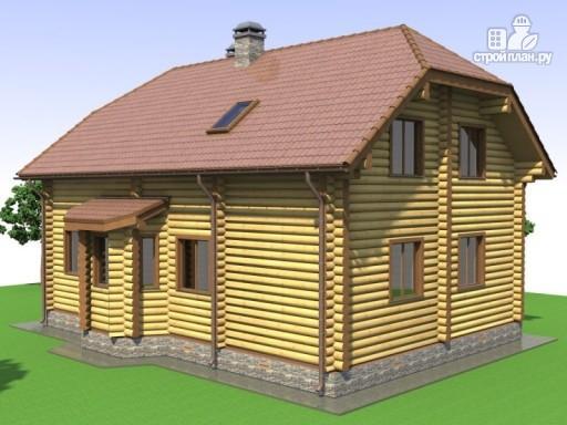 Фото 6: проект деревянный дом с эркером и крыльцом