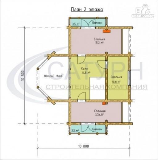 Фото 3: проект современный деревянный дом с большой террасой и вторым светом в гостинной