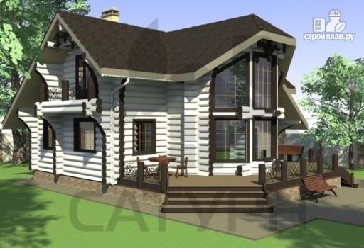 Фото 8: проект современный деревянный дом с большой террасой и вторым светом в гостинной
