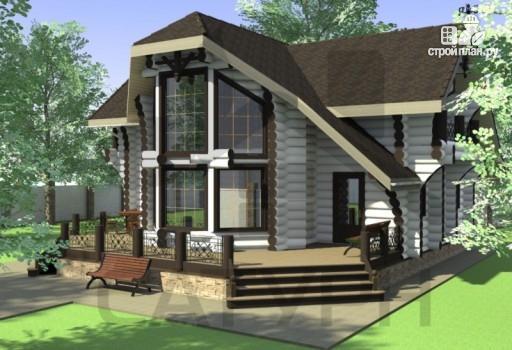 Фото 6: проект современный деревянный дом с большой террасой и вторым светом в гостинной