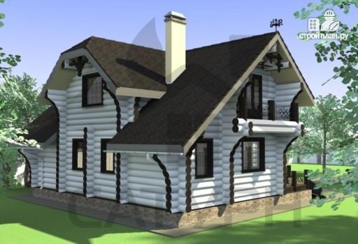 Фото 9: проект современный деревянный дом с большой террасой и вторым светом в гостинной