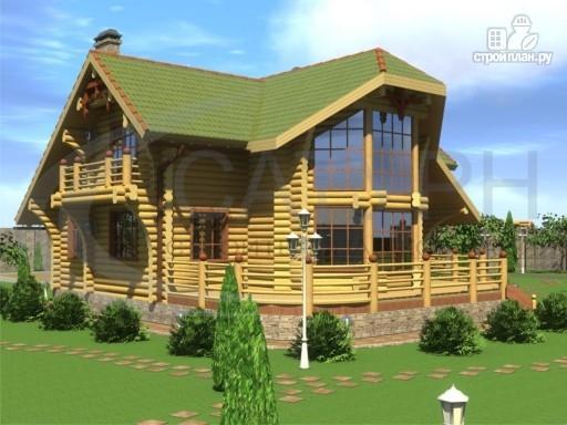 Фото 7: проект современный деревянный дом с большой террасой и вторым светом в гостинной