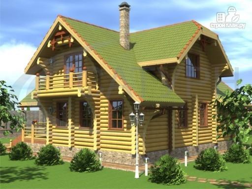 Фото 4: проект современный деревянный дом с большой террасой и вторым светом в гостинной