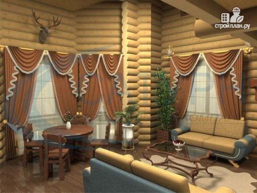 Фото 8: проект дом деревянный с террасой и вторым светом