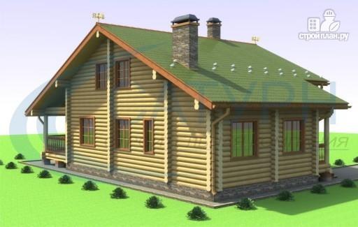 Фото 5: проект дом деревянный с террасой и вторым светом