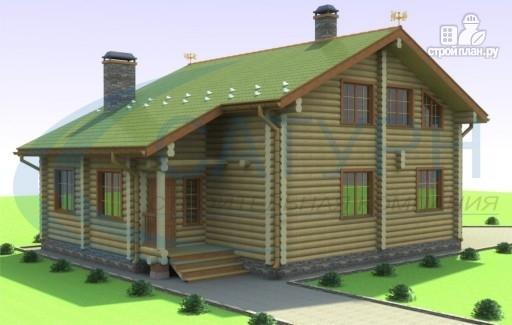 Фото 6: проект дом деревянный с террасой и вторым светом