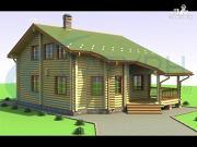 Фото: дом деревянный с террасой и вторым светом