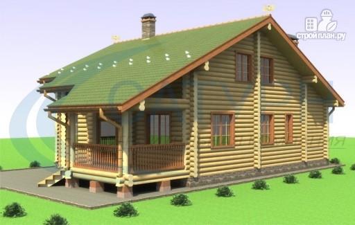 Фото 4: проект дом деревянный с террасой и вторым светом