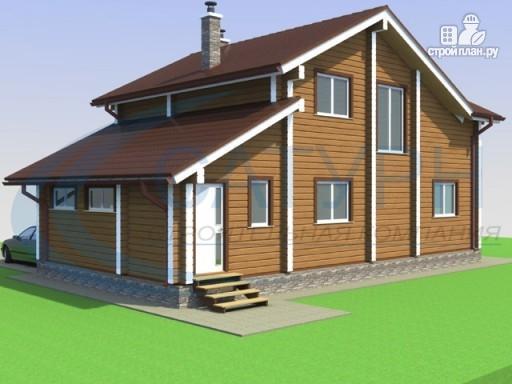Фото 5: проект деревянный дом с гаражом и террасой