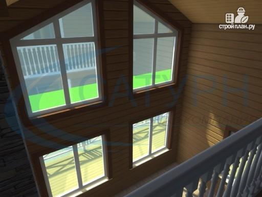 Фото 8: проект деревянный дом с гаражом и террасой