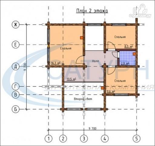 Фото 3: проект деревянный дом с гаражом и террасой