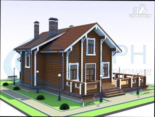 Фото 5: проект дом деревянный с большой террасой