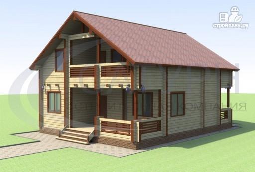 Фото 6: проект деревянный дом с террасой и балконом