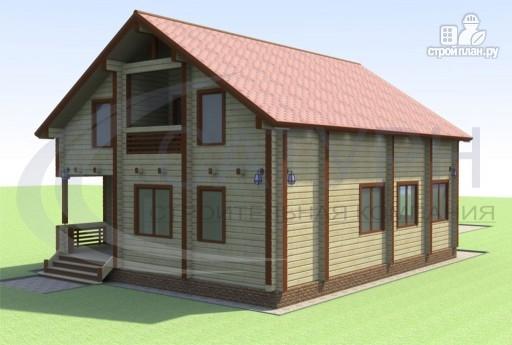 Фото 5: проект деревянный дом с террасой и балконом