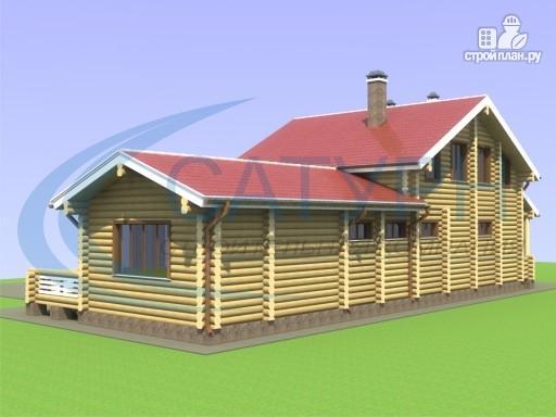 Фото 4: проект деревянный дом с сауной и террасой