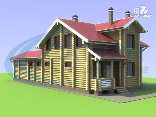 Фото 6: проект деревянный дом с сауной и террасой