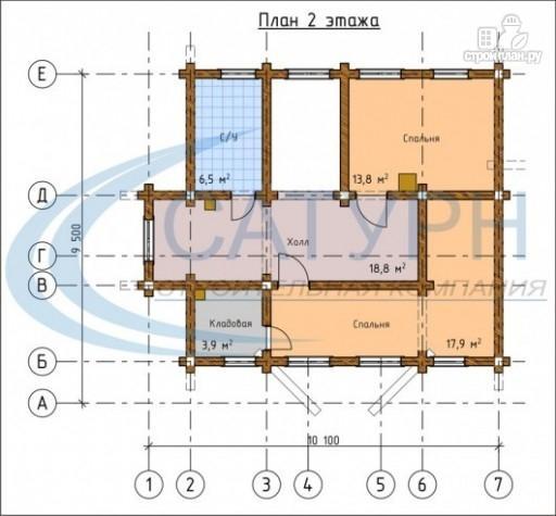 Фото 3: проект деревянный дом с сауной и террасой