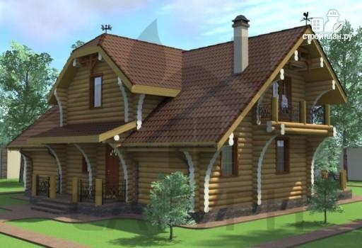Фото 5: проект современный дом из дерева с балконом, террасой и вторым светом в гостинной