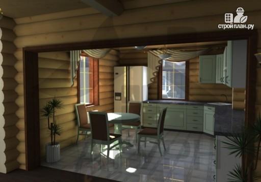 Фото 10: проект современный дом из дерева с балконом, террасой и вторым светом в гостинной