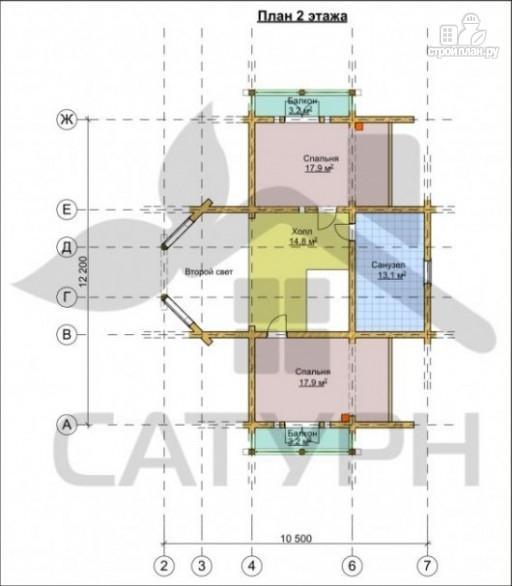 Фото 3: проект современный дом из дерева с балконом, террасой и вторым светом в гостинной