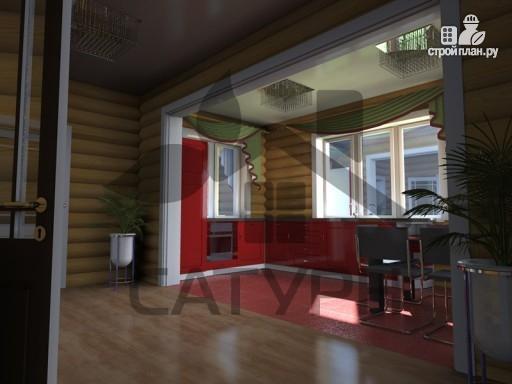 Фото 8: проект дом из дерева с балконом и террасой