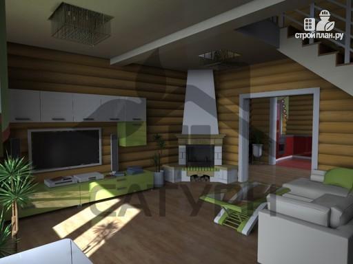 Фото 7: проект дом из дерева с балконом и террасой