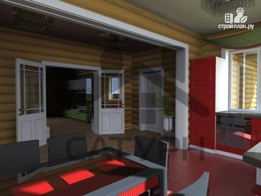 Фото 9: проект дом из дерева с балконом и террасой