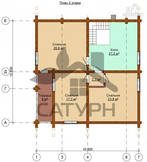 Фото 3: проект дом из дерева с балконом и террасой