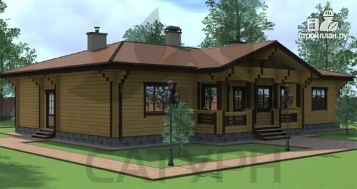 Фото 5: проект большой одноэтажный дом из дерева