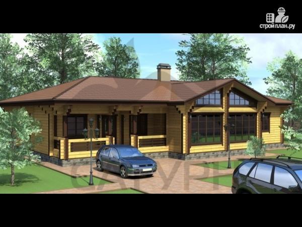 Фото: проект большой одноэтажный дом из дерева